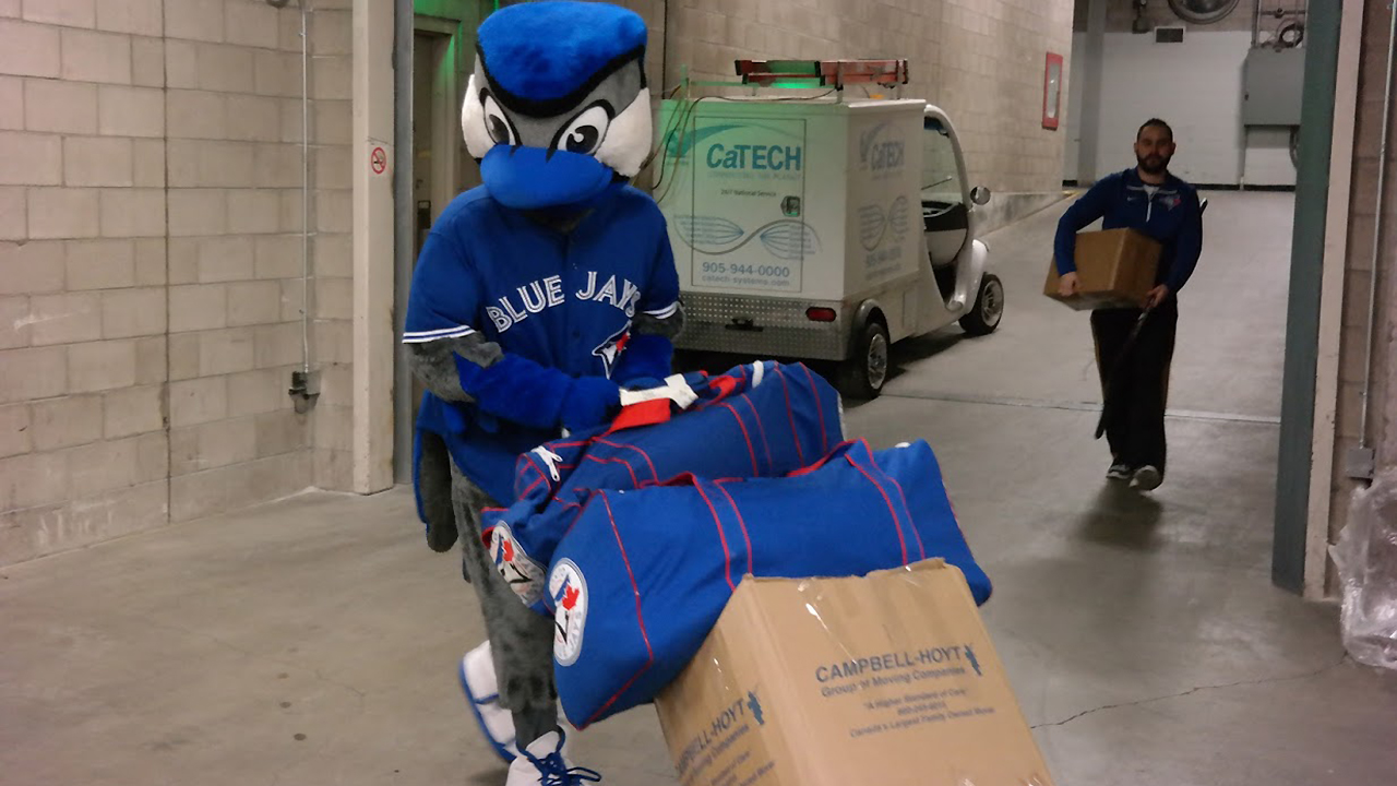 Wheels, not wings for Blue Jays on Truck Day